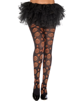 Pumpkin Pattern Pantyhose ML-37281