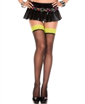 Contrast Lace Top Sheer Thigh High Stockings ML-4106