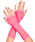 Hot Pink Fingerless Gloves ML-415-Hot-Pink