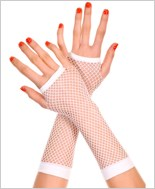 White Fingerless Gloves ML-415-White