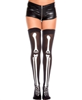 Skeleton Print Thigh High Stockings ML-4171