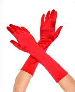 Red Long Satin Gloves ML-426-Red