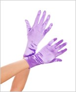 Wrist Length Purple Satin Gloves ML-461-Purple