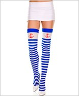 Striped Thigh Highs With Anchor