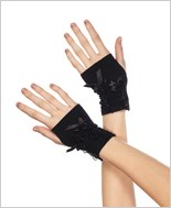 Wrist Length Black Gloves ML-485