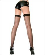 Music Legs® Fishnet Back Seam Thigh Hi ML-4901