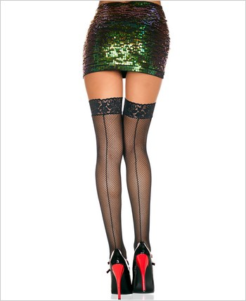 Music Legs® Fishnet Thigh Hi ML-4909q