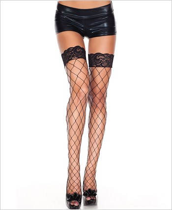 Music Legs® Lycra Fence Net Stockings ML-4925Q