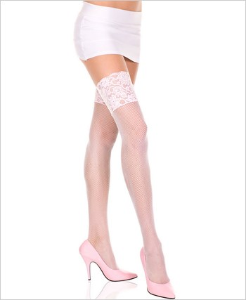 Music Legs® Fishnet Thigh Hi ML-4926Q