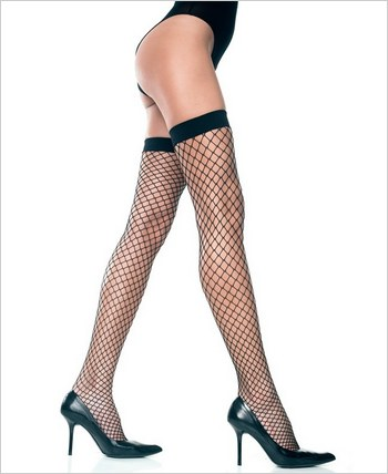 Music Legs® Lycra Industrial Net Thigh Hi ML-4930