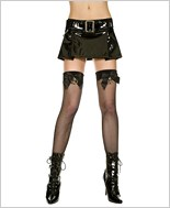 Fishnet Thigh Hi With Handcuffs ML-4940