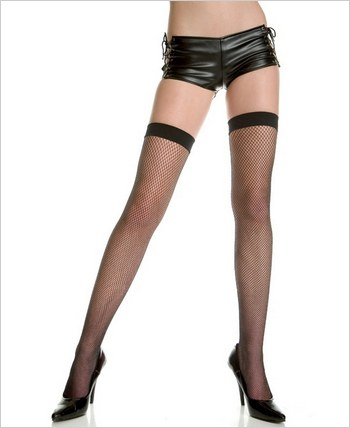 Music Legs® Lycra Fishnet Thigh Hi ML-4991