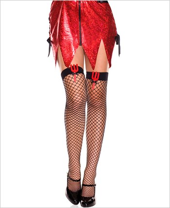 Devil Pitchfork Stockings ML-4993