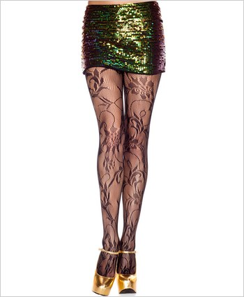 Floral Bouquet Lace Pantyhose