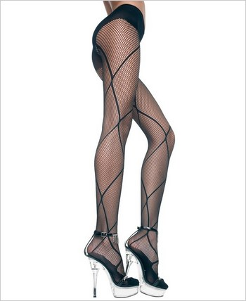 Music Legs® Big Diamond Net Fishnet Pantyhose ML-5049
