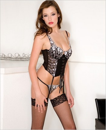 Music Legs® Embroided Bustier ML-52010