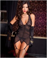 Sheer Garter Dress And G-String Set ML-52065