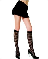 Music Legs® Sheer Vertical Stripe Knee Hi ML-5236