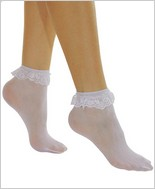 Music Legs® Opaque With Ruffle Lace Anklet ML-527