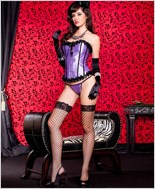 Purple Corset And G-String Set ML-52817