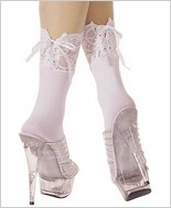 Music Legs® Opaque Lace Up Ankle ML-548