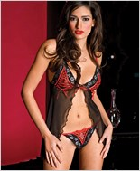 Babydoll And G-String Lingerie Set ML-56040