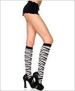 Zebra Print Knee Highs