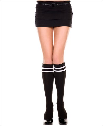 Knee Highs With Double Striped Top