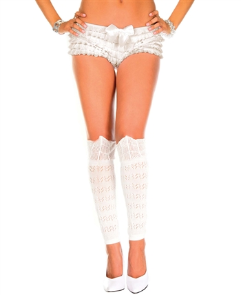 Knitted Lace Knee High Leg Warmers ML-5654