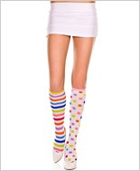 Stripes And Dots Knee Highs