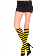 Acrylic Striped Knee Highs