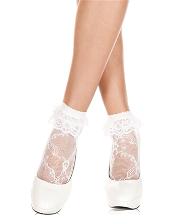 Ruffle Lace Ankle High Socks ML-572