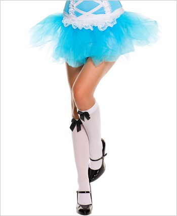 Music Legs® Opaque Knee Hi With Bow ML-5722