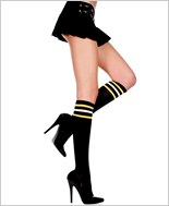 Athletic Knee Highs With Striped Top