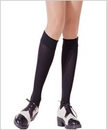 Music Legs® Opaque Turnover Knee Hi ML-5746