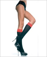 Music Legs® Two Tone Opaque Knee Hi ML-5748