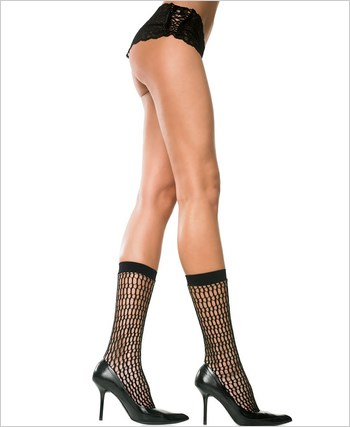 Music Legs® Honey Comb Design Net Knee Hi ML-5780