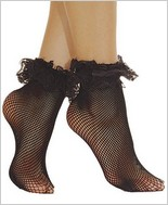 Music Legs® Fishnet Ankle Socks ML-597