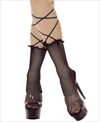 Music Legs® Fishnet Ankle Hi ML-599