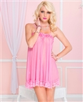Loose Fit Mini Dress with Lace Trim ML-60030