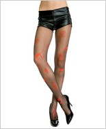 Music Legs® Pumpkin & Cat Halloween Tights ML-606