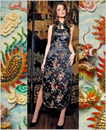 Music Legs® Sexy Bare Back Dragon Oriental Long Dress ML-70041