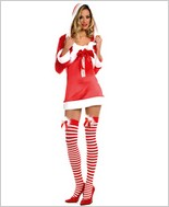 Music Legs® Miss Santa Hooded Cape ML-70184
