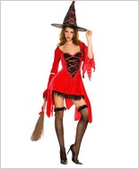 Music Legs® Red Magic Witch Outfit ML-70192