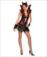 Music Legs® Fire Flirty Devil Costume ML-70194