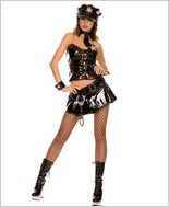 Music Legs® Sexy Flirtatious Police Outfit ML-70197