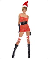 Music Legs Sexy Mrs Santa Adult Costume ML-70219
