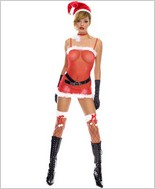 Music Legs Miss Santa Sexy Adult Costume ML-70221