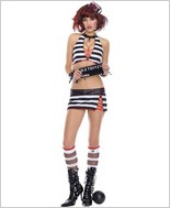 Music Legs Sexy Jail Bird Adult Costume ML-70222
