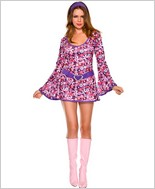 Disco Flower Power Go-Go Costume ML-70313